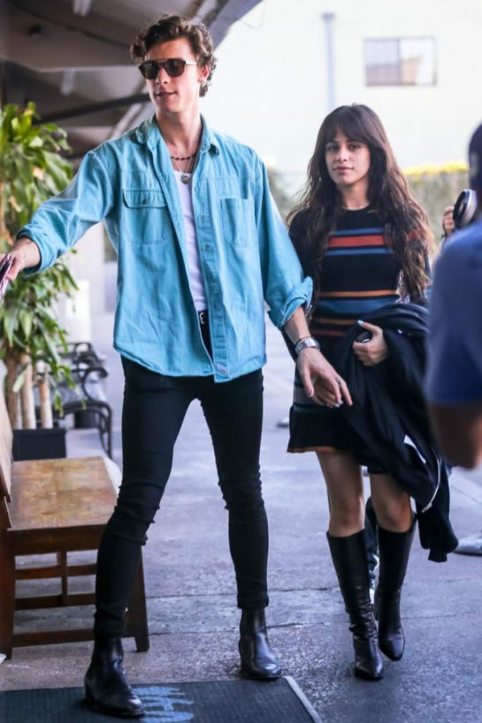 Camila Cabello and Shawn Mendes Out for Lunch in Los Angeles