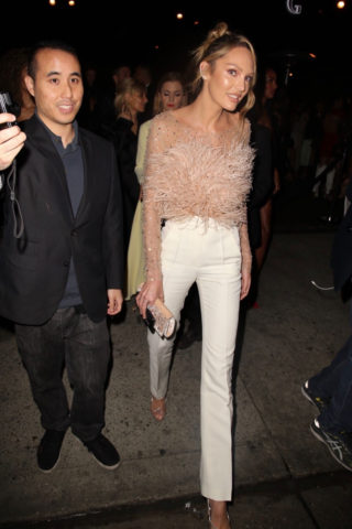 Candice Swanepoel Leaves the Revolve Awards afterparty in Hollywood