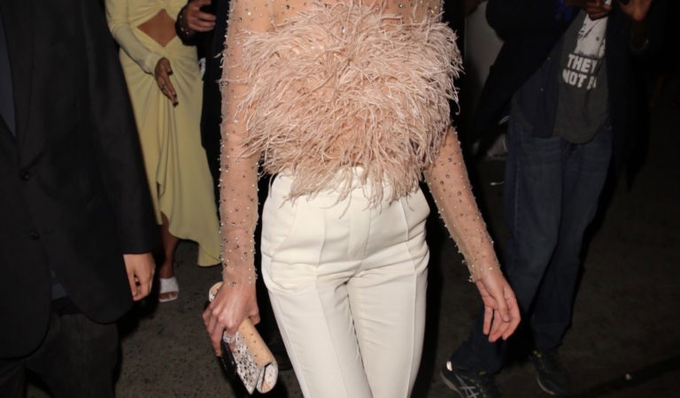 Celebrity Night Out – Candice Swanepoel Leaves the Revolve Awards afterparty in Hollywood