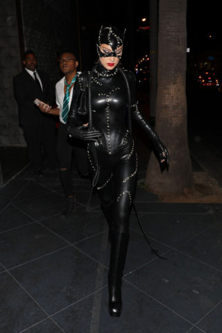 Bella Hadid Leaves Kendall Jenner's Birthday Halloween Bash in West Hollywood