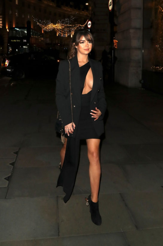 Demi Rose Mawby arriving at Cafe Royal in London