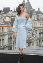 Ella Balinska at Charlie's Angels photocall in London