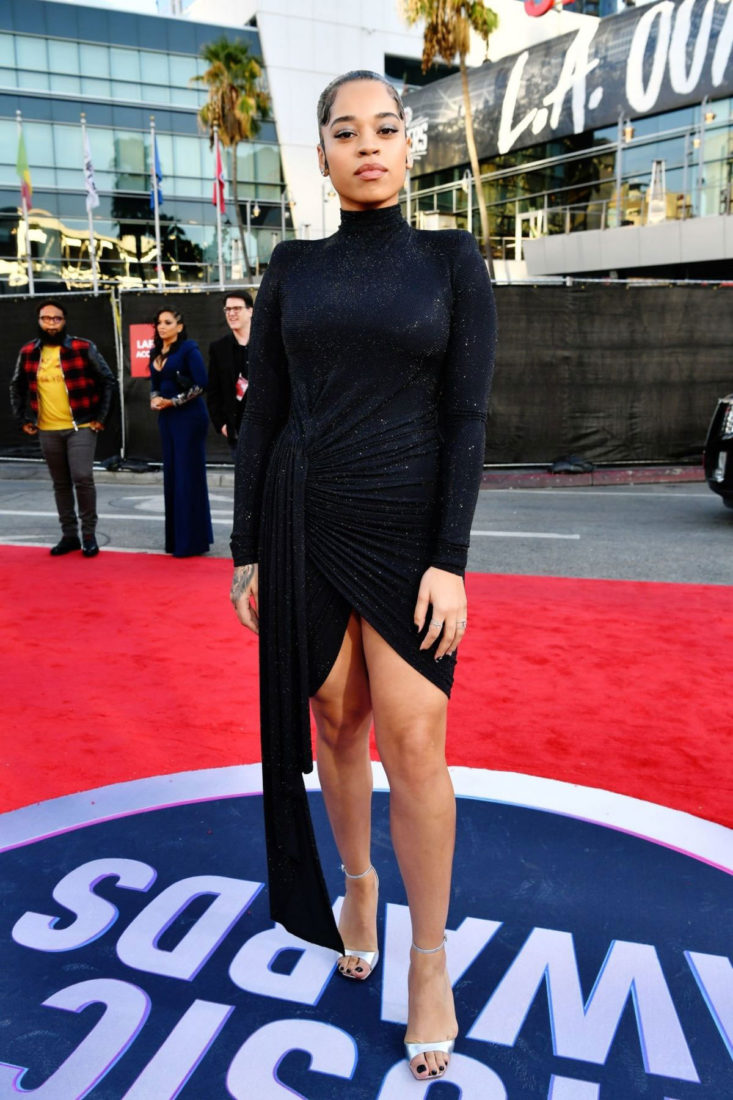 Ella Mai at 2019 American Music Awards in Los Angeles