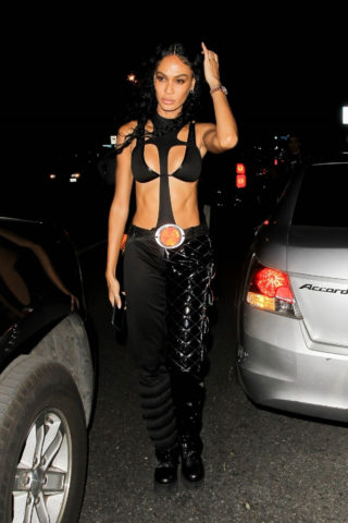 Joan Smalls Arrives at Drake's Halloween Party in West Hollywood