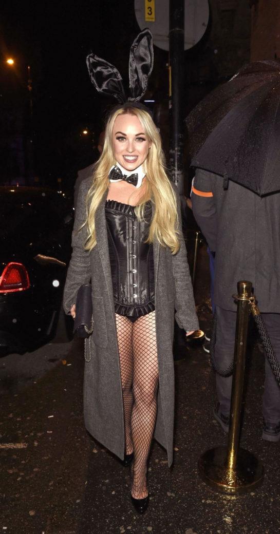 Jorgie Porter Arrives at PLT Halloween Party in Manchester