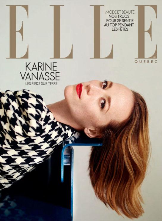 Karine Vanasse in Elle Magazine, Quebec France December 2019
