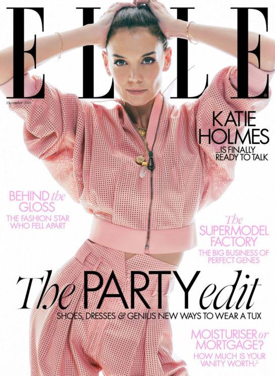 Katie Holmes in Elle Magazine, UK December 2019