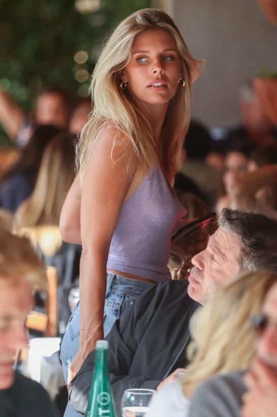 Natasha Oakley at Il Pastaio in Beverly Hills