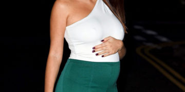 Pregnant Chloe Goodman at Nobu Restaurant in London