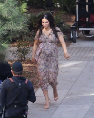 Pregnant Jenna Dewan on the Set of a Photoshoot in LA