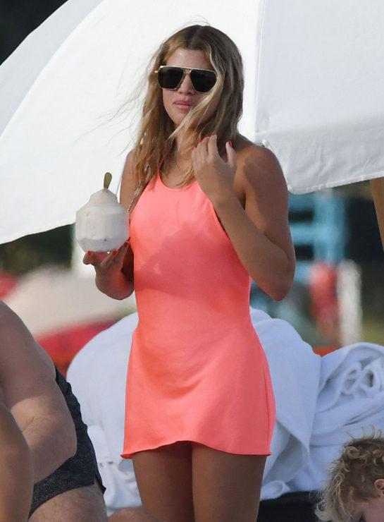 Sofia Richie at a Beach in Miami