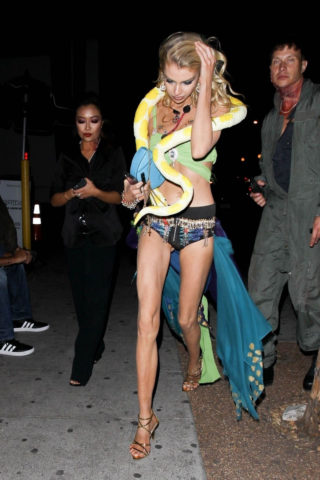 Stella Maxwell Arrives at Drake's Halloween Party in West Hollywood