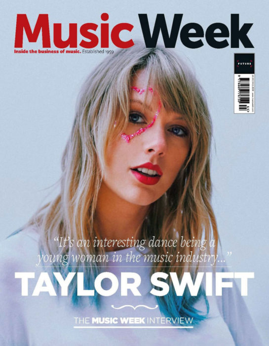 Taylor Swift on the Cover of Music Week Magazine, November 2019