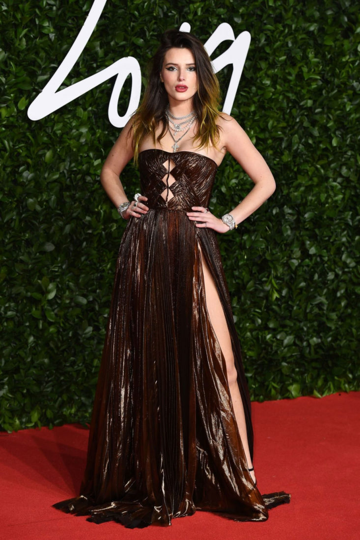 Bella Thorne at Fashion Awards 2019 in London