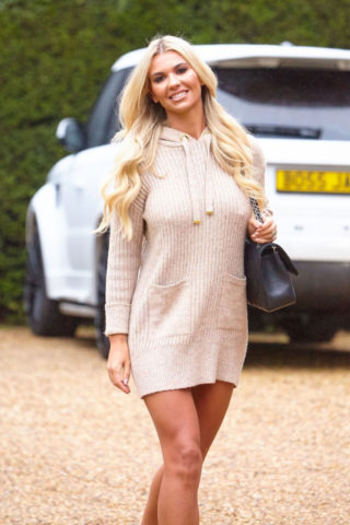 Christine McGuinness in Mini Dress Leaves a Photoshoot in Essex