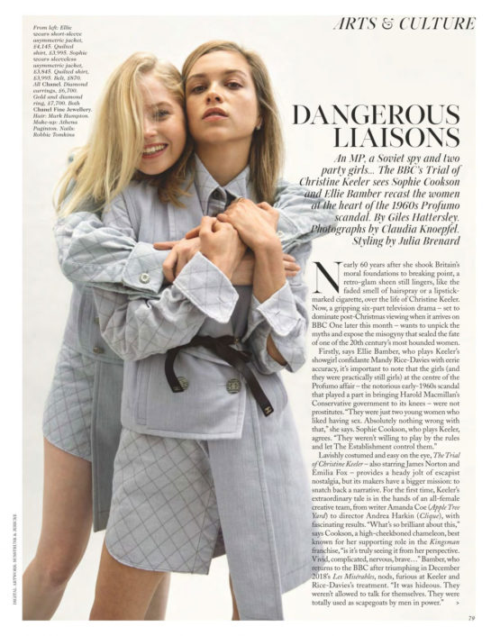 Ellie Bamber and Sophie Cookson in Vogue Magazine, UK January 2020