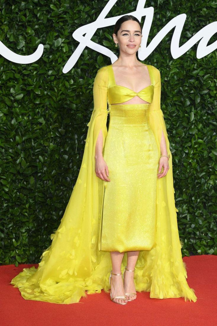 Emilia Clarke at Fashion Awards 2019 in London