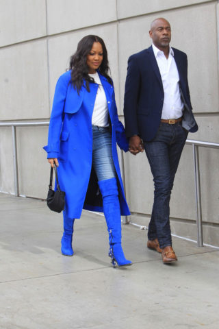 Garcelle Beauvais Arrives at LA Lakers Game in Los Angeles