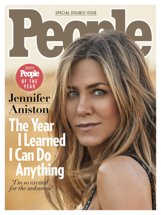Jennifer Aniston in People Magazine, People of the Rear Issue, December 2019