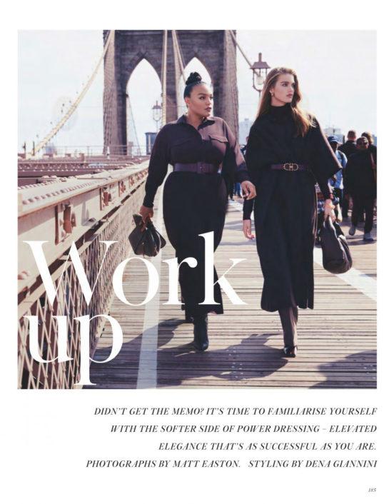 Karen Elson, Luna Bijl, Paloma Elsesser, Taylor Hill, Meghan Roche in Vogue Magazine, UK January 2020