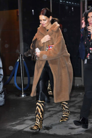 Katie Holmes Leaves Z100's Jingle Ball 2019 in New York