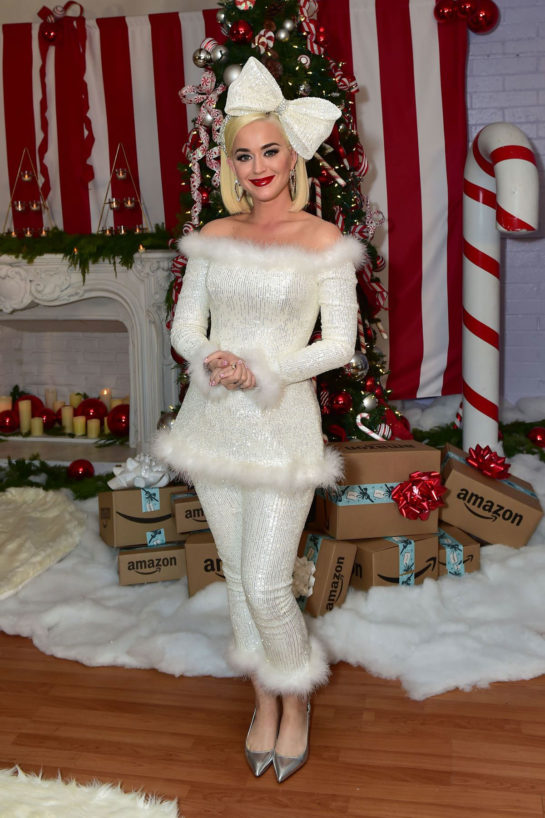 Katy Perry hosting a holiday party for The Boys And Girls Club in Los Angeles