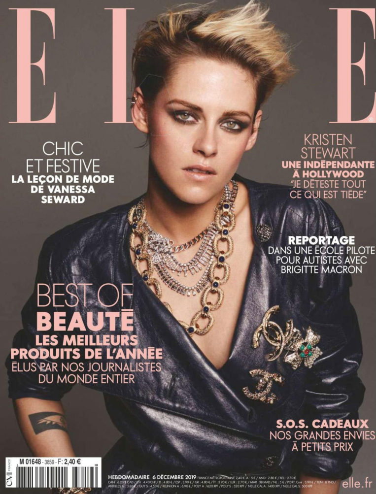 Kristen Stewart in Elle Magazine, France December 2019