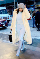 Priyanka Chopra arriving at her hotel in New York City