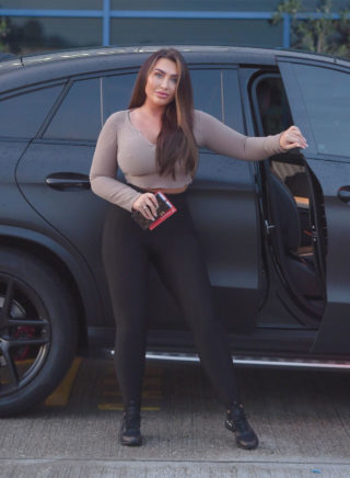 Street Style - Lauren Goodger Out and About in Loughton