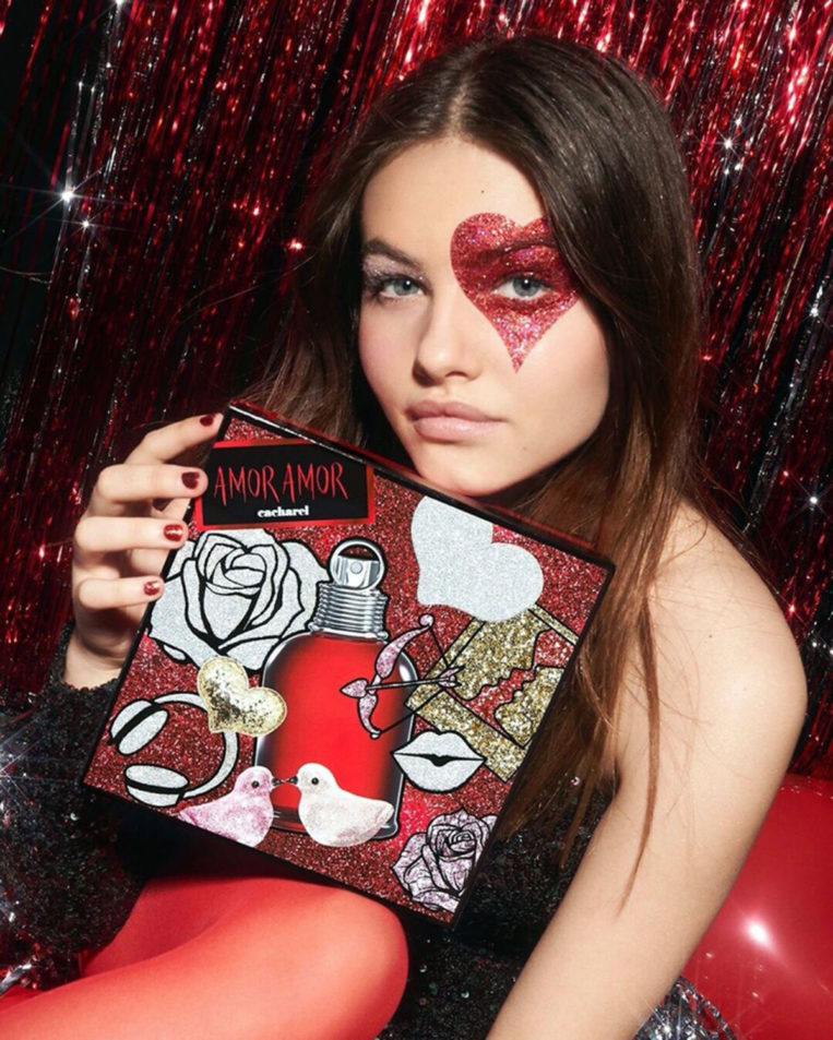 Thylane Blondeau in Cacharel Amor Amor Holiday 2019 campaign
