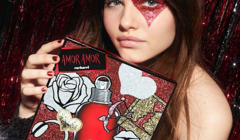 Makeup – Thylane Blondeau in Cacharel Amor Amor Holiday 2019 campaign