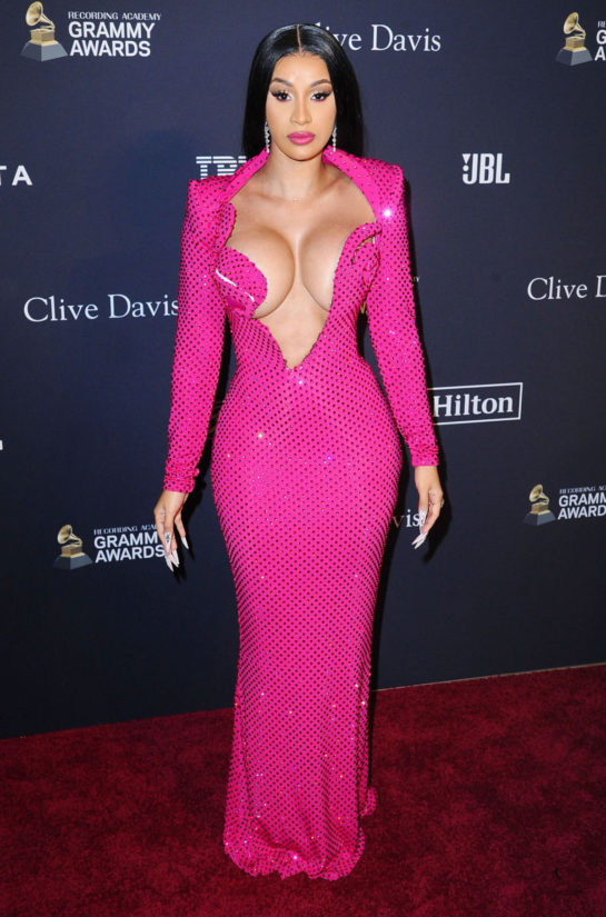 Cardi B at Clive Davis' 2020 Pre-Grammy Gala in Los Angeles