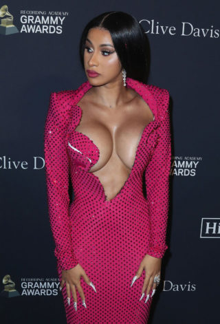 Cardi B at Clive Davis' 2020 Pre-Grammy Gala in Los Angeles