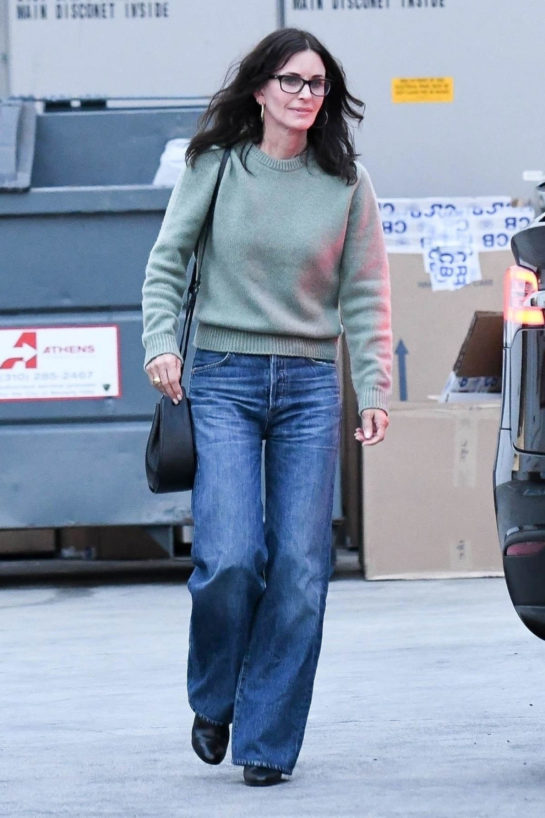 Courteney Cox at Celine Store in Los Angeles