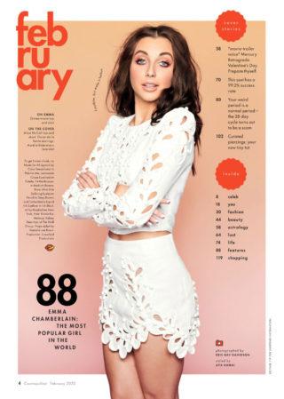 Emma Chamberlain in Cosmopolitan Magazine, February 2020