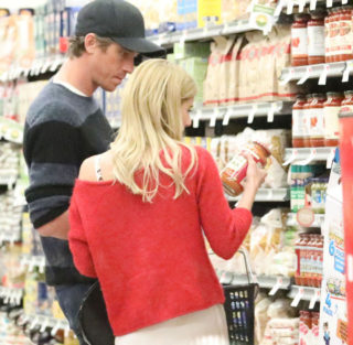 Emma Roberts Grocery Shopping With Garrett Hedlund in Santa Monica