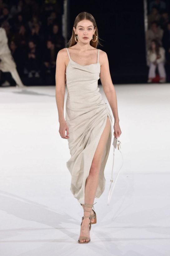 Gigi Hadid at Jacquemus Runway Show at Paris Fashion Week