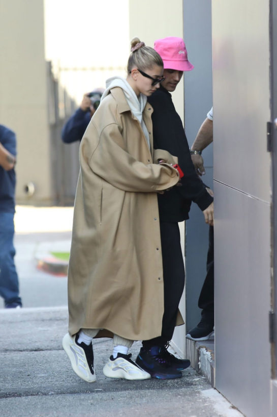 Hailey and Justin Bieber Arrive for a doctor appointment in Beverly Hills