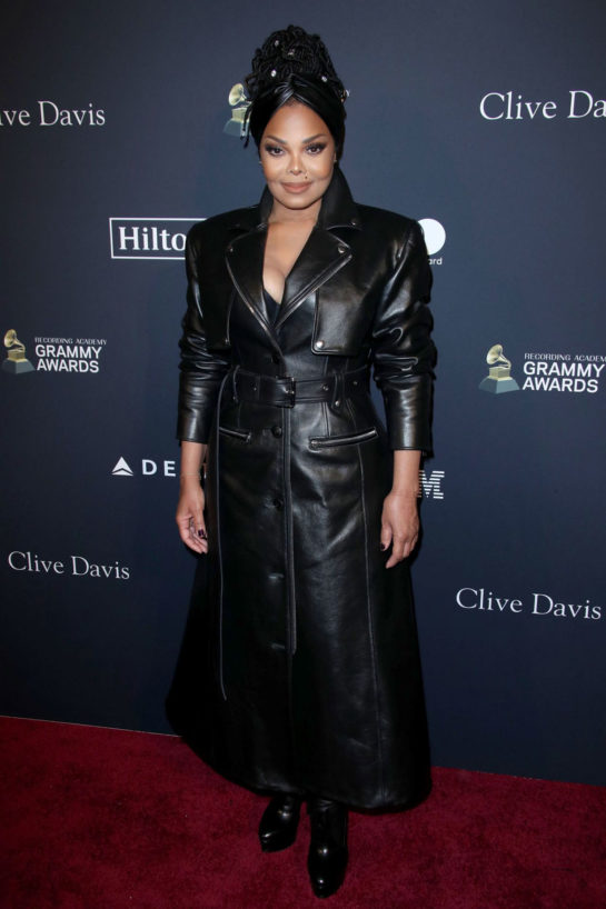 Janet Jackson at Clive Davis' 2020 Pre-Grammy Gala at The Beverly Hilton in LA