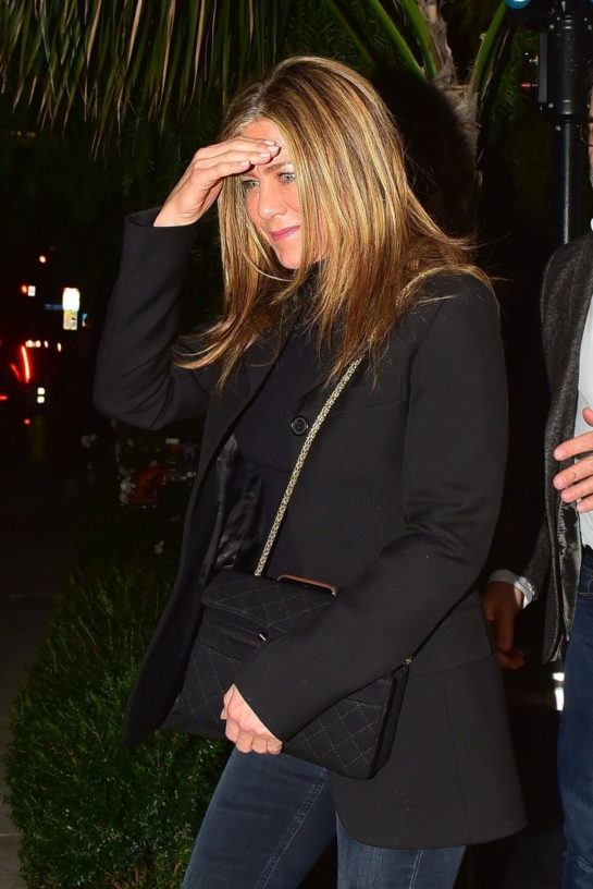 Jennifer Aniston Night out at San Vicente Bungalow in West Hollywood