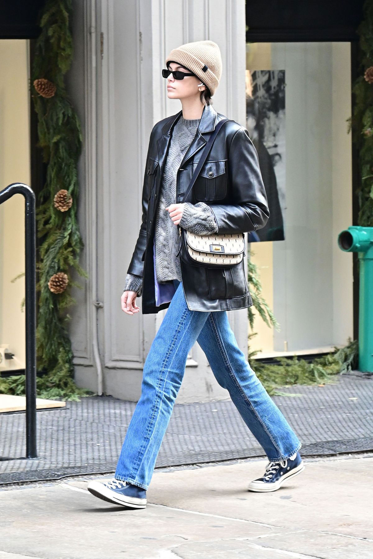 Street Style Kaia Gerber Out and About in New York JustFabzz