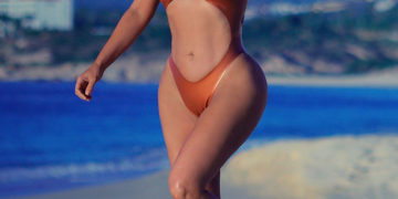 Kim Kardashian in Bikini at a Beach in Mexico