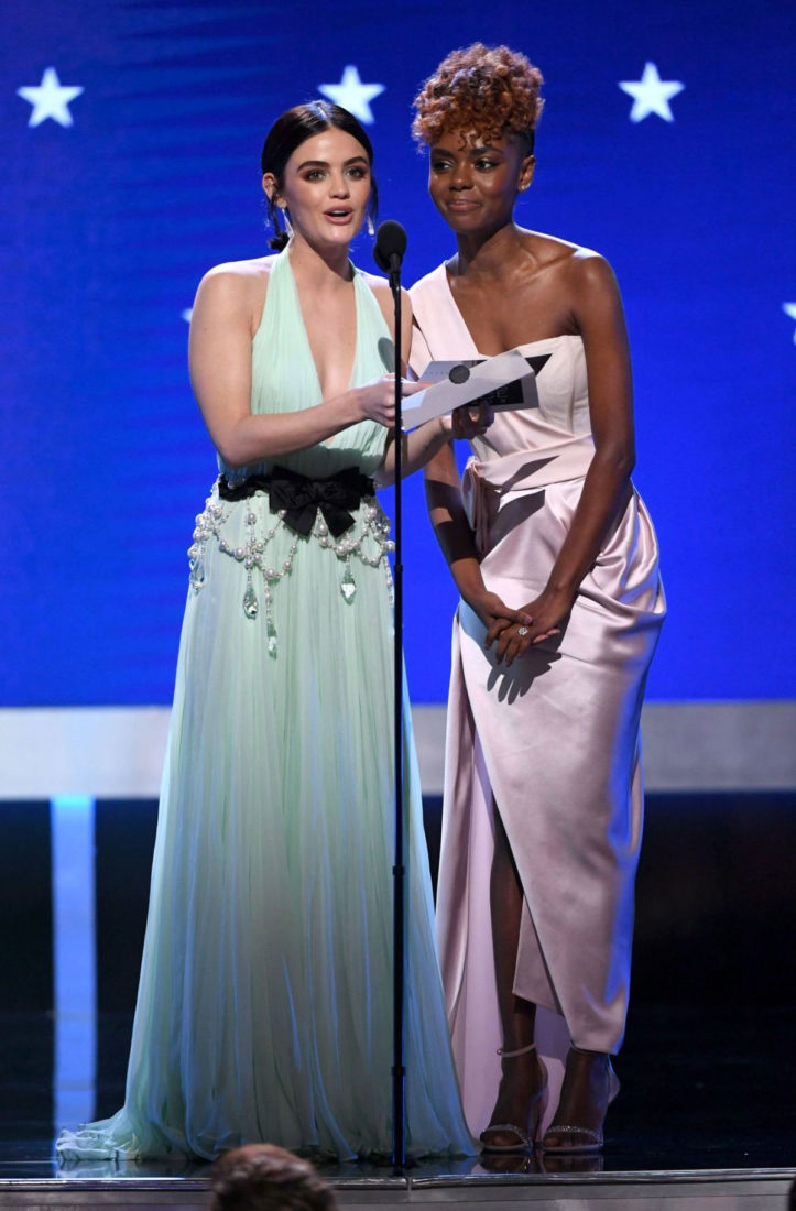 Lucy Hale and Ashleigh Murray Speak at 25th Annual Critics Choice Awards in Santa Monica