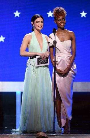 Lucy Hale and Ashleigh Murray Speak at 25th Annual Critics Choice Awards in Santa Monica