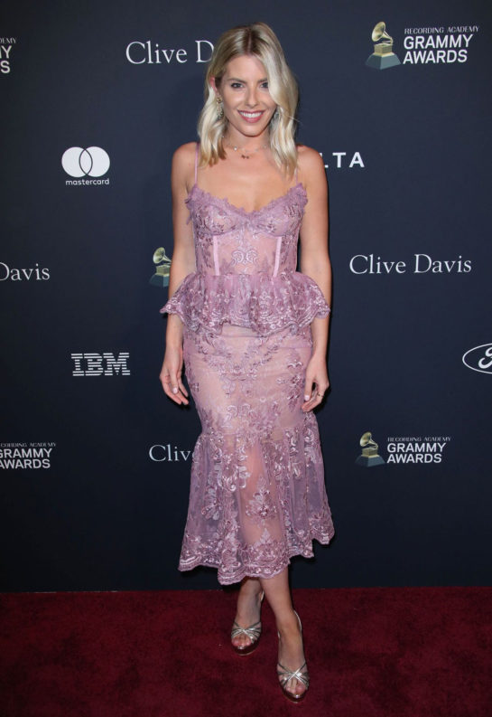 Mollie King at Clive Davis' 2020 Pre-Grammy Gala in Los Angeles