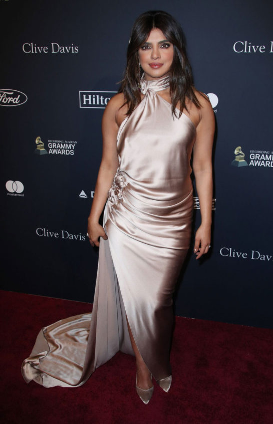 Priyanka Chopra at Clive Davis' 2020 Pre-Grammy Gala in Los Angeles