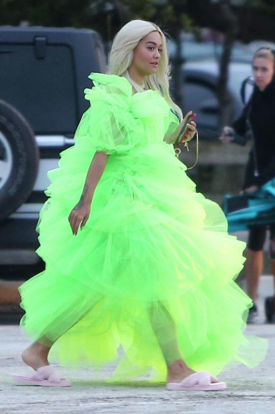 Rita Ora on the Set of Deichmann Comercial in Miami