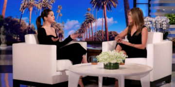 Celebrity Dresses - Selena Gomez and Jennifer Aniston Hosting on Ellen DeGeneres Show