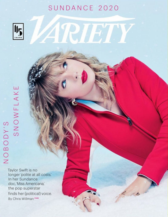 Taylor Swift in Variety Magazine Sundance Issue 2020