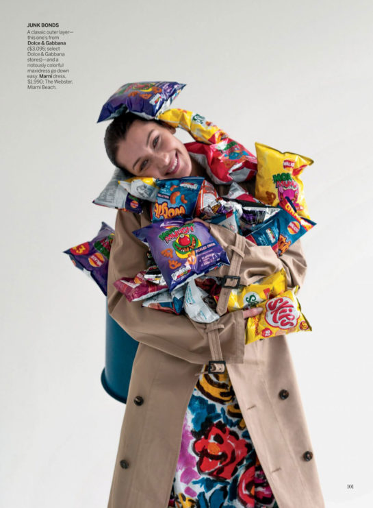 Bella Hadid in Vogue Magazine, February 2020